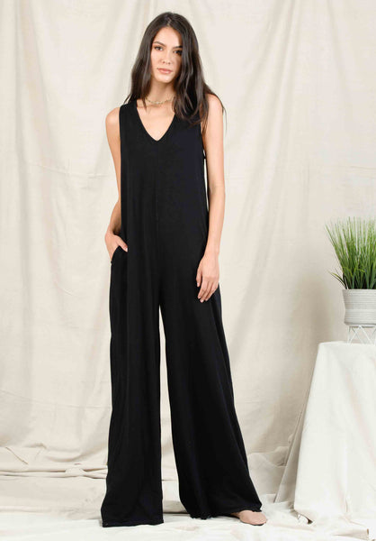 ROSA WIDE LEG JUMPSUIT | BLACK