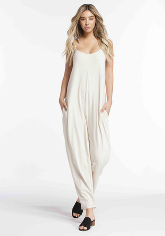 ADELYN HALTER JUMPSUIT | BONE