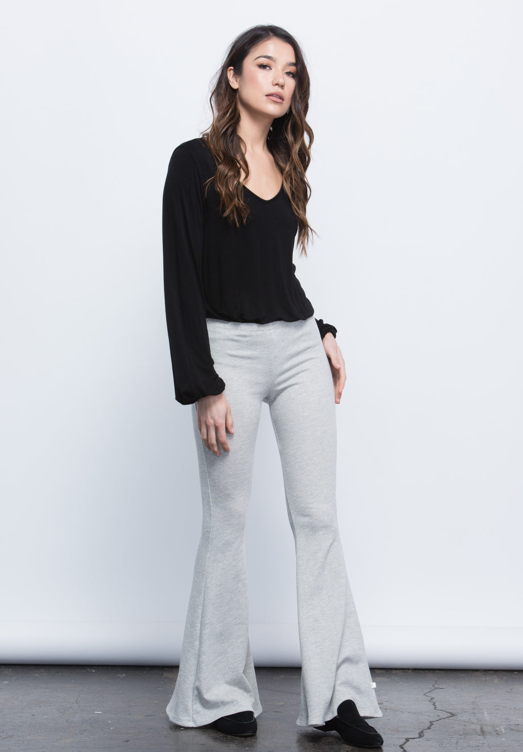 CORRIGAN FLARE SWEATPANTS | HEATHER GREY