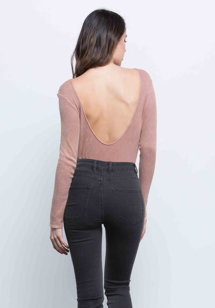 GEMMA DEEP SCOOP BACK BODYSUIT | RUST