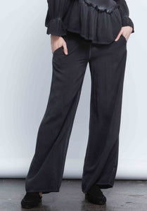 TAYLOR WIDE LEG PANT | OIL WASH BLACK