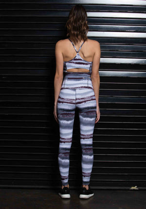 MAIA BACK ZIP POCKET LEGGING | ABSTRACT