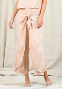 FAYE TIE CULOTTE | OIL WASH GRAPEFRUIT