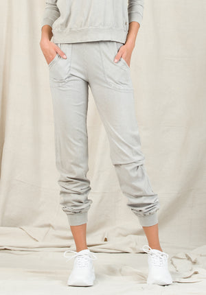 MADDIE PATCH POCKET JOGGERS | STONE