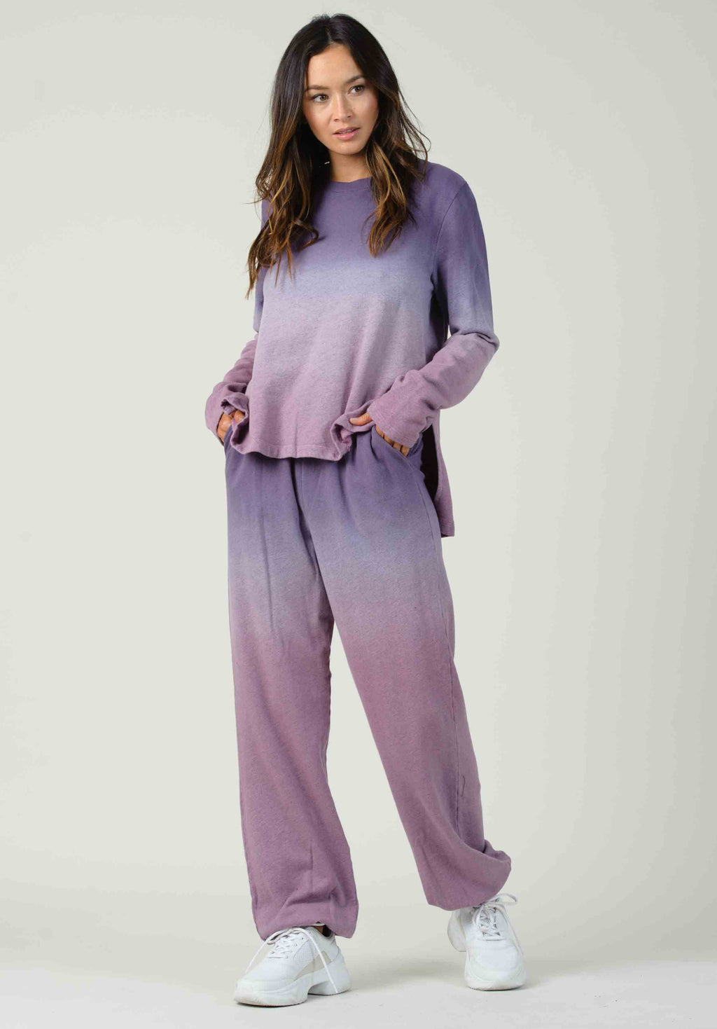 ATHENS SWEATPANTS | PURPLE/PINK OMBRE