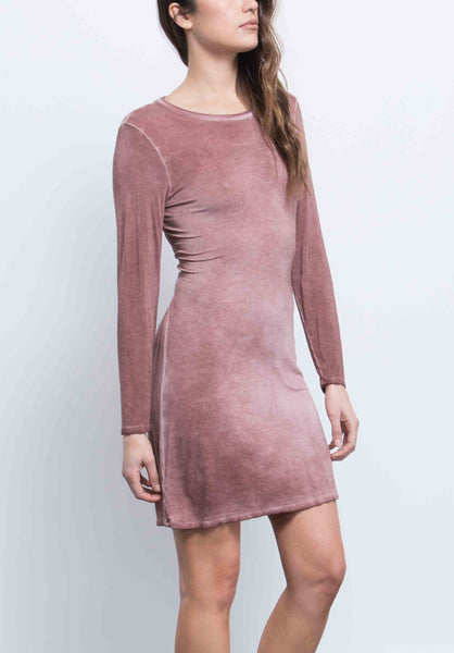 ALICE OPEN TIE BACK DRESS | OIL WASH RUST