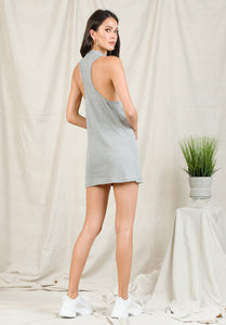 RAYNE RACERBACK MINI DRESS | HEATHER GREY