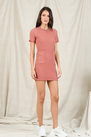 BINX PATCH POCKET MINI DRESS | SEDONA