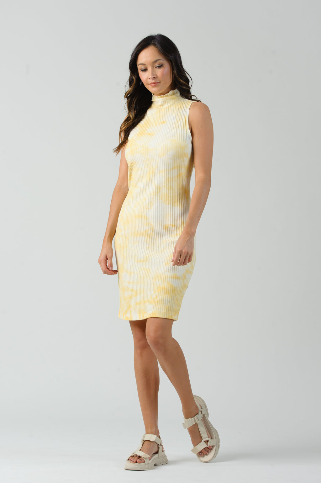 ZEPPELIN MOCK NECK DRESS | SUNSHINE