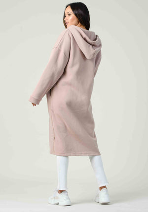 MILAN LONG ZIP-UP SWEAT JACKET | BLUSH