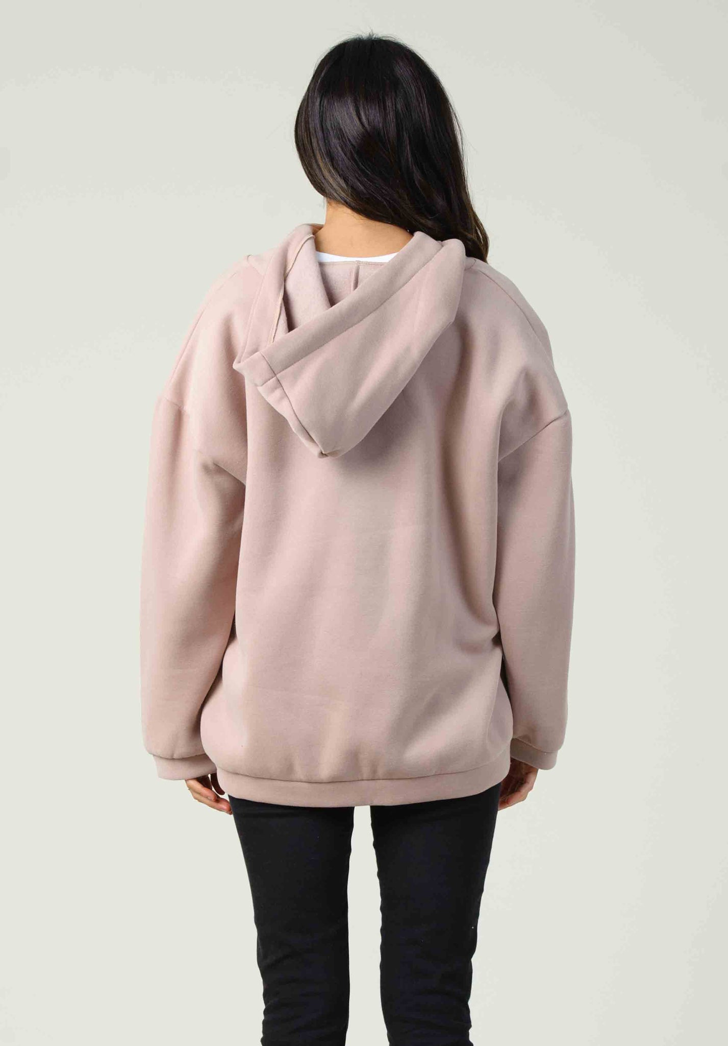 DUBLIN ZIP UP SWEATER | BLUSH
