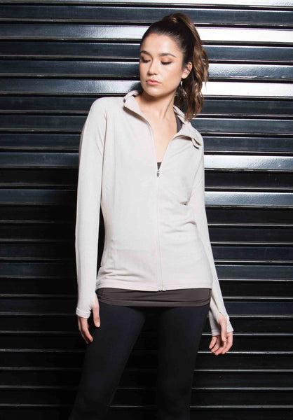 FANNY ZIP UP SPORTS JACKET | TAUPE