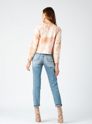 RIN TRIANGLE SLIT TOP | PEACH DYE