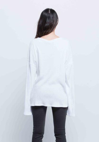 KYLE FLARE MINI RUFFLE TOP | WHITE