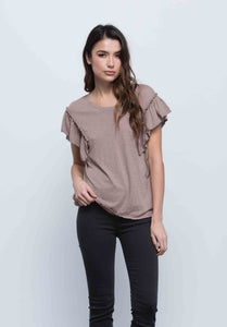 Gabrielle Ruffle Sleeve Top