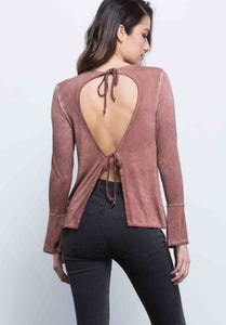 BRYNN DOUBLE TIE-BACK TOP |  OIL WASH RUST