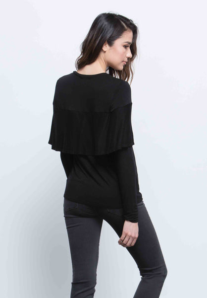 JORDAN CAPE TOP | BLACK