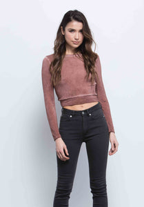 JOANNA OPEN BACK CROP TOP | RUST