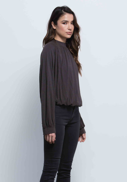 ALICE BLOUSON POET TOP | BLACK