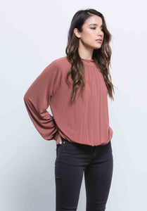 ALICE BLOUSON POET TOP | RUST