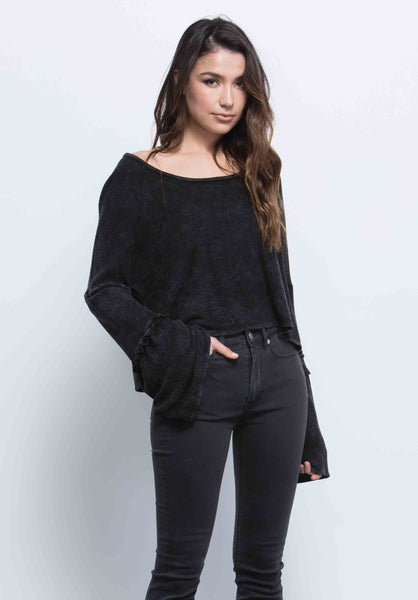 Lauren Mini Ruffle Sleeve Top