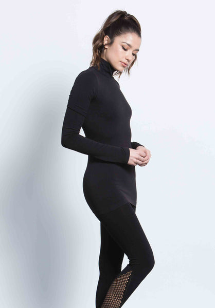 MIRAI TURTLE NECK TOP | BLACK