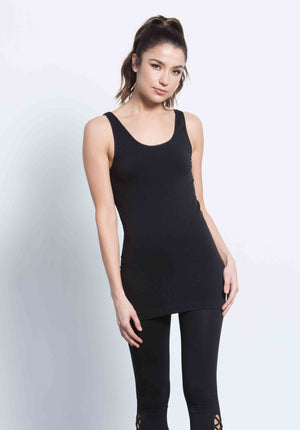 ALLYSON DOUBLE SCOOP TANK | BLACK