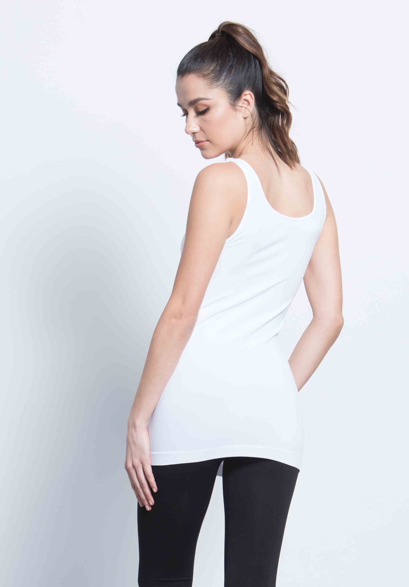 ALLYSON DOUBLE SCOOP TANK | WHITE