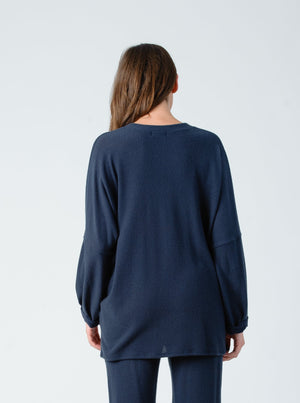 ELIZABETH MIDNIGHT V NECK TUNIC