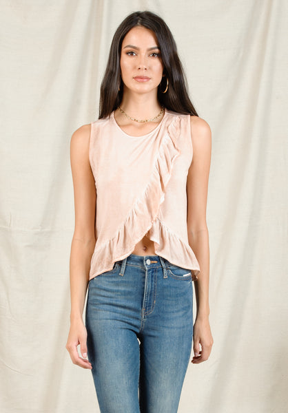 ASTRID PEPLUM BLOUSE | OIL WASH GRAPEFRUIT