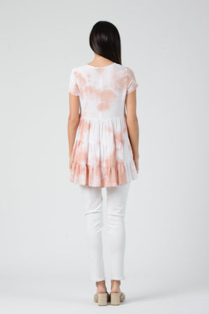 TASHA BBDOLL TIERED TIE DYE TOP