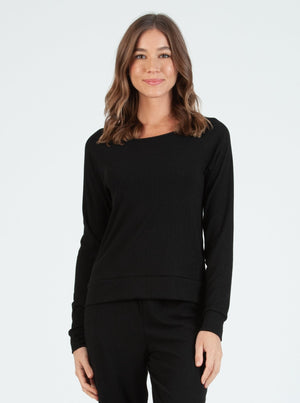 COOKIE BLACK POINTELLE PULLOVER