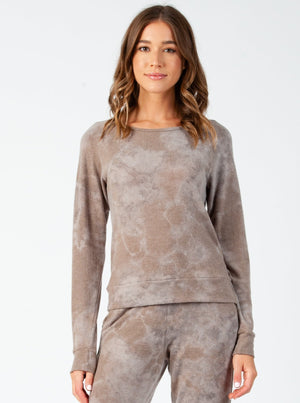 COOKIE TAUPE CLOUD PULLOVER