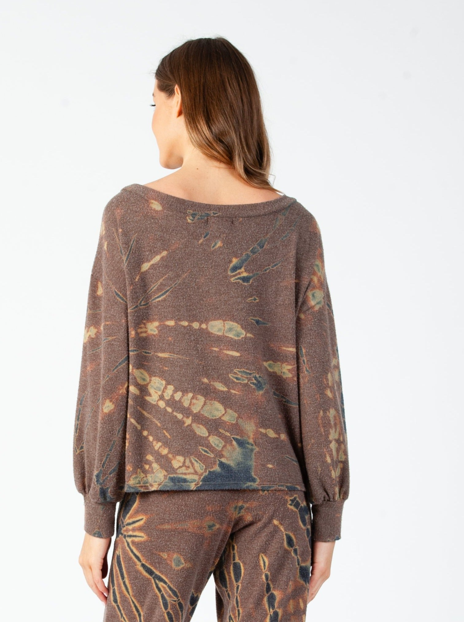 SAVANNAH LONG SLEEVE TOP |  MILITARY TIE DYE
