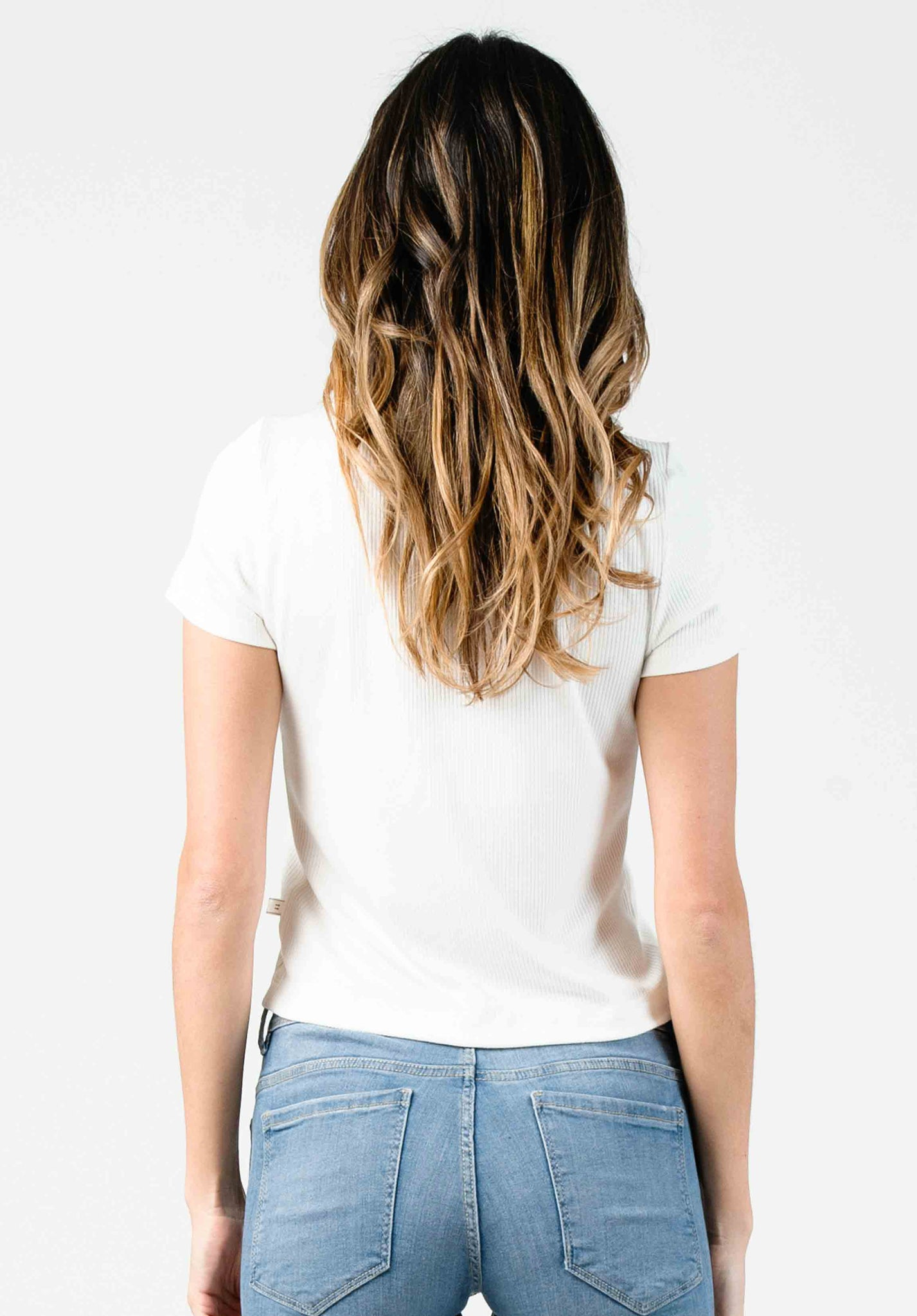 BUTTON DOWN TOP | WHITE