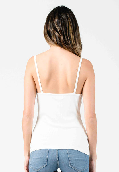 RIBBED CAMI | WHITE