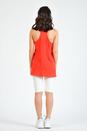 CICI SCOOP NECK RACER BACK TANK | TOMATO