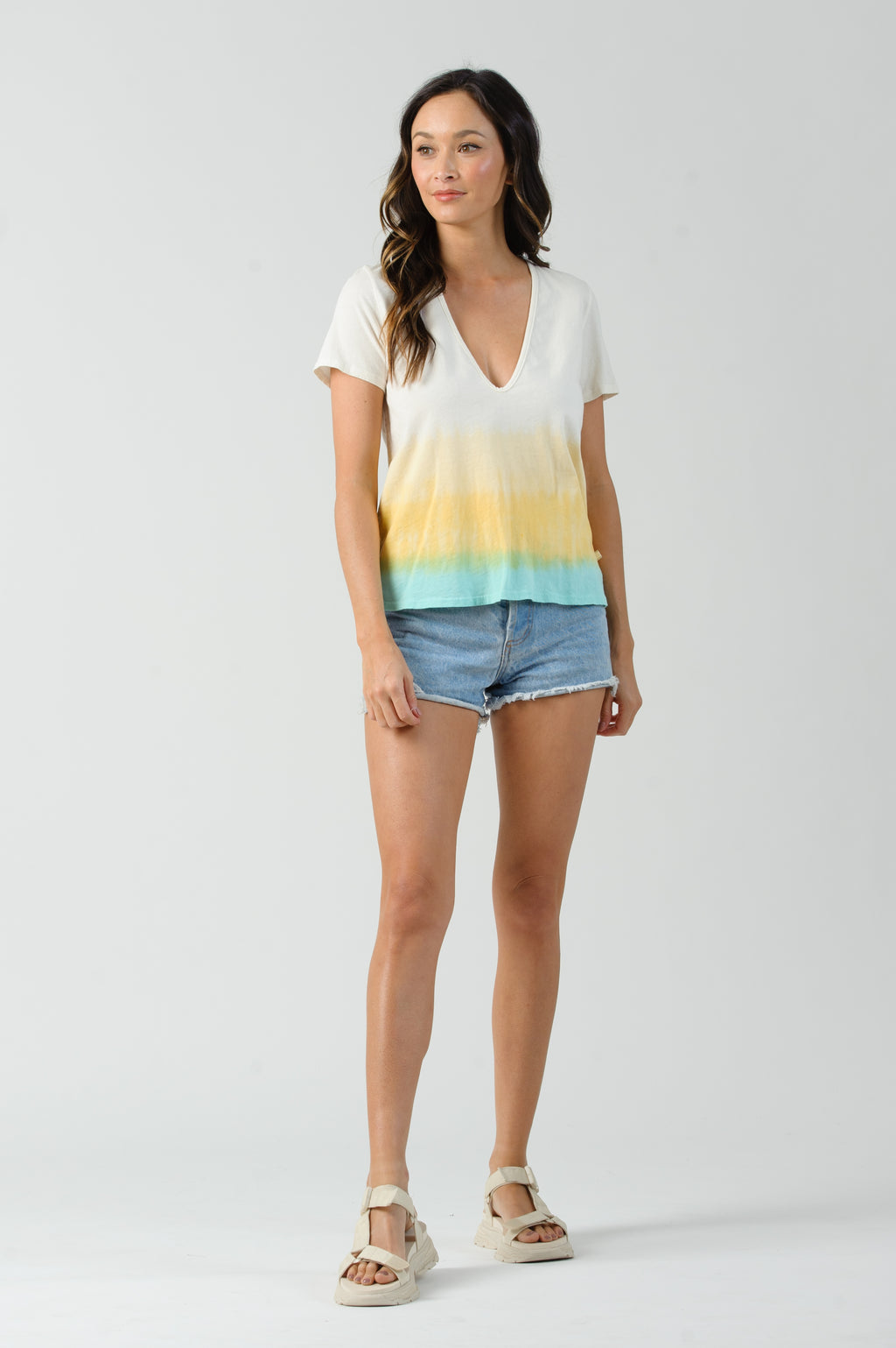 ABBY T-SHIRT DRESS | OCEAN OMBRE TIE DYE
