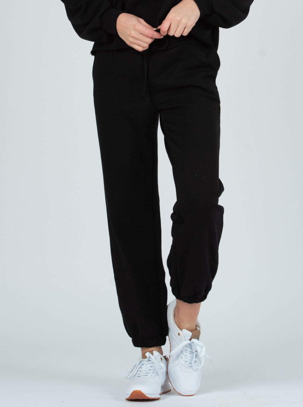 dubrovnik french terry sweat pant black