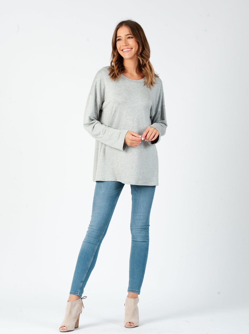 MILKYWAY LONG SLEEVE | HEATHER GREY