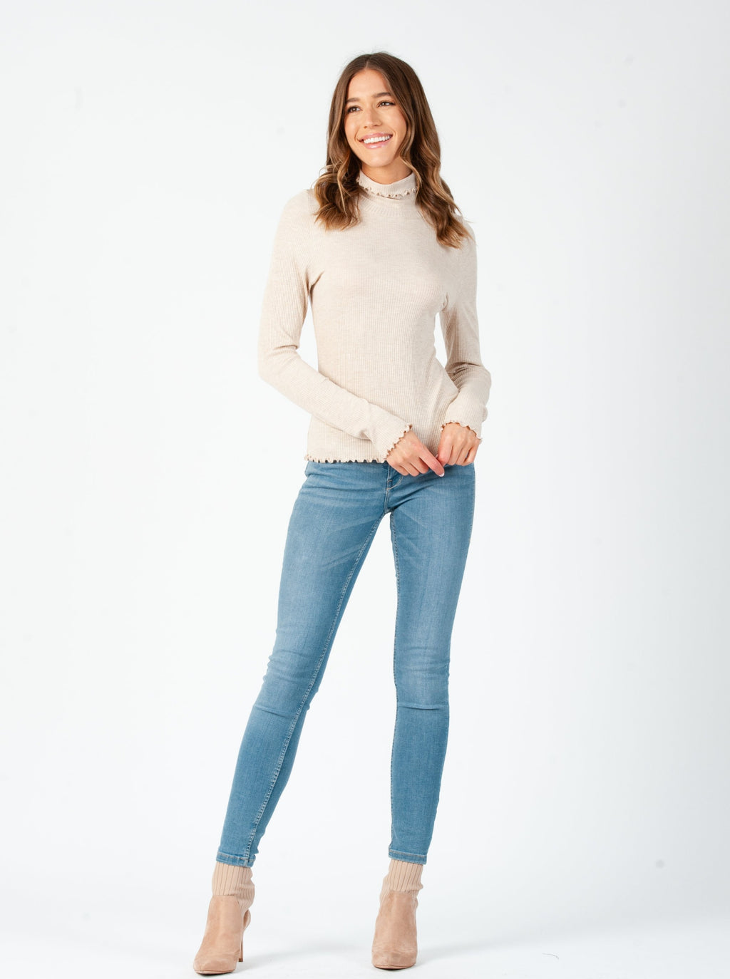 COCO MERROW MOCK NECK LONG SLEEVE | OAT