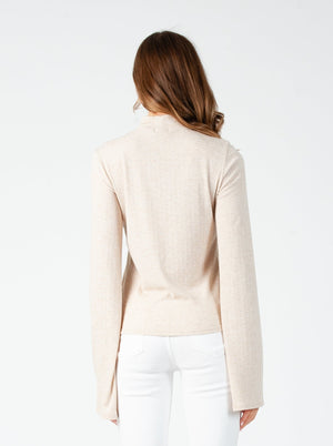 MAY MERROW MOCK NECK LONG SLEEVE TOP | OAT