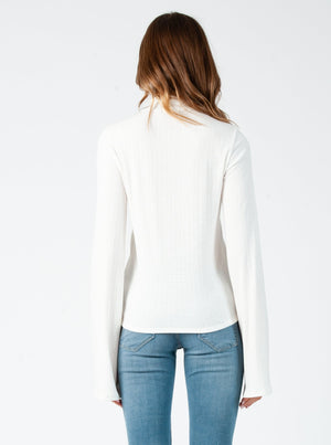 MAY MERROW MOCK NECK LONG SLEEVE TOP | OFF WHITE