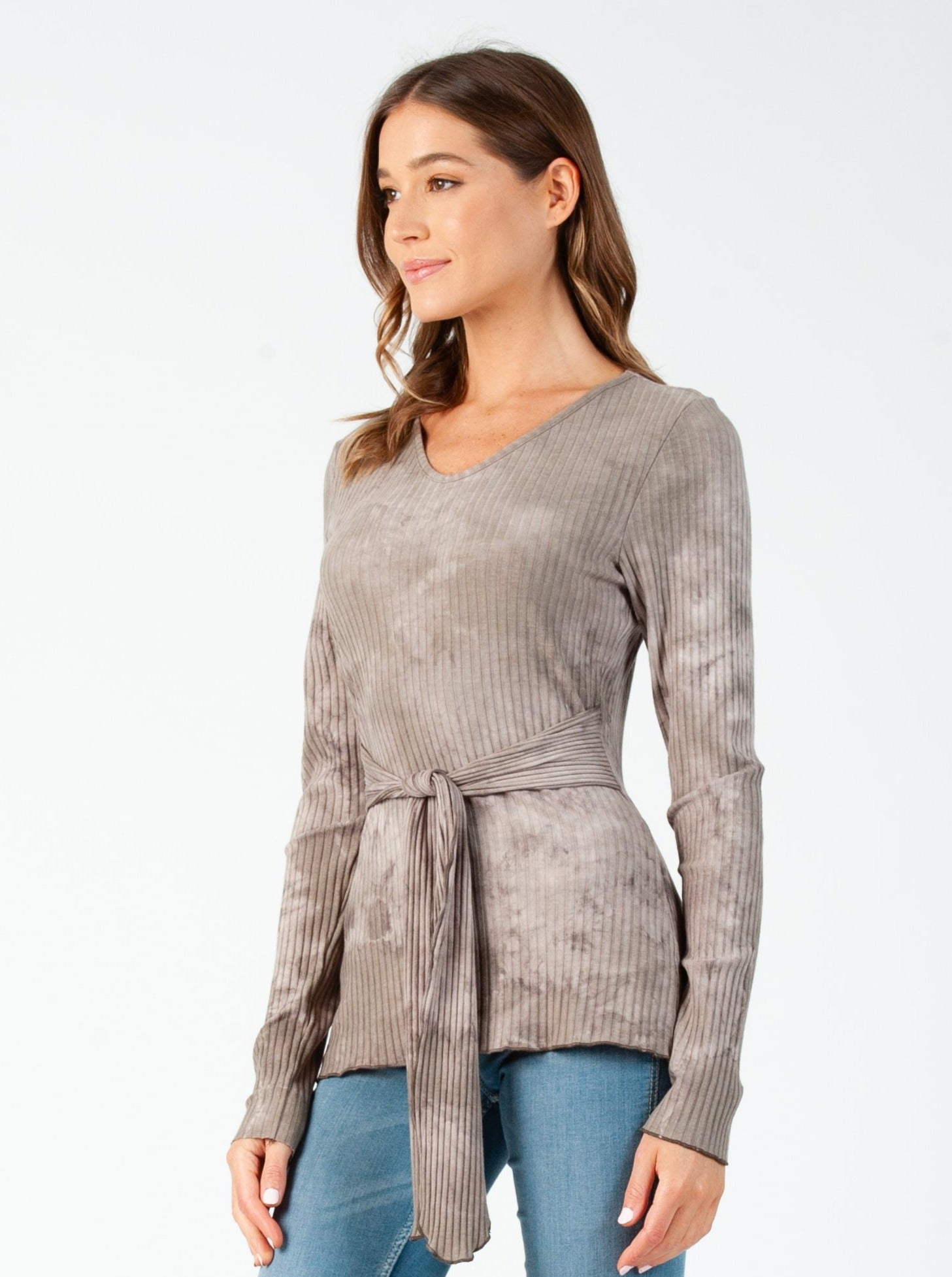 CATALINA LONG SLEEVE TOP |  TAUPE CLOUD