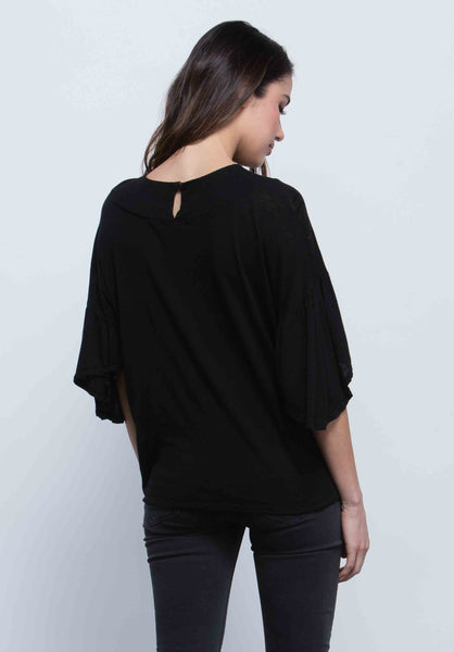 Finley Ruffle Sleeve Top