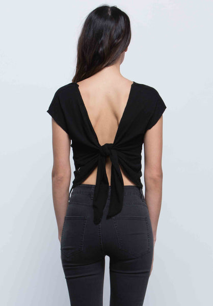 Arya Tie Back Crop Top