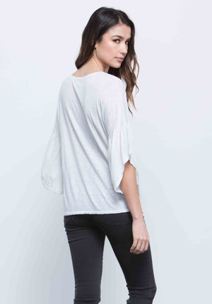 JESSICA RUFFLE TOP | WHITE