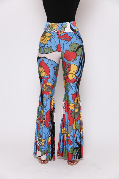 Psychedelic Print High Waist Palazzo Pants