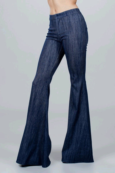 Stretch high waisted bell bottom jeans