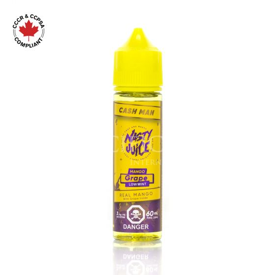 Cash Man Mango Grape (Low Mint) - Nasty Juice - Clouds and Coils Vape Shop